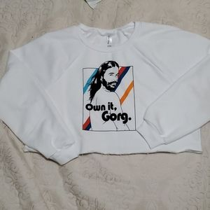 JVN queer eye crop sweatshirt